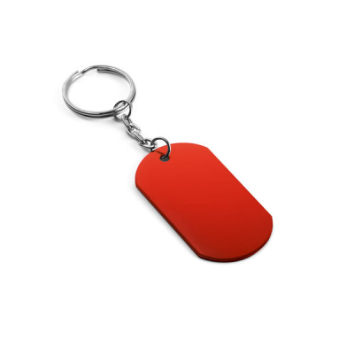 Image of Dogtag Shaped Keyring