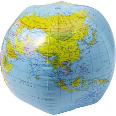 Image of Inflatable beach ball with globe print