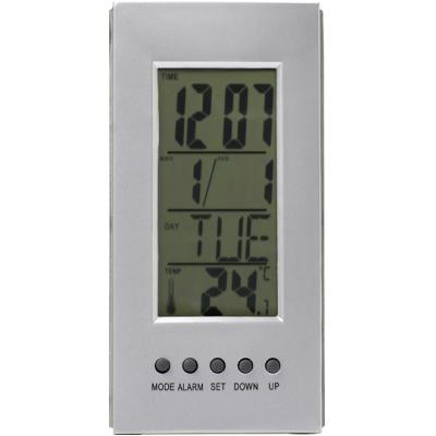 Image of Desk clock with thermometer